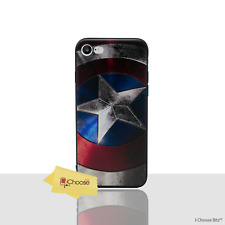3D Marvel Shiled Case/Cover Apple iPhone 5/5s/SE / Screen Protector / Silicone