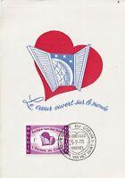 MXC47) 1959, Belgium, Le Coeur ouvert sur le monde, maximum card