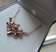 Welsh 14ct Rose Gold & Diamond Daffodil Pendant by Stuart Devlin