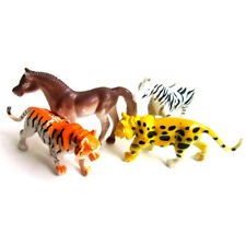 4pcs Plastic Zoo Animal Figure Tiger Leopard Horse Zebra Kids Animal Gift Toys |