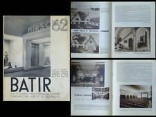 BATIR N°62 1938 HIRSCH GOVAERTS GEVAERT, PIERRE DUVERLIE, UCCLE SNEYERS LEBORGNE