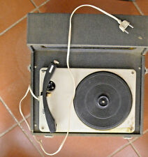 giradischi vintage 1960 valigetta FUNZIONANTE KOSMOPHON PHONOGRAPH EUROPHON