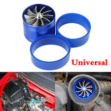 1X Aluminum alloy Single Air Intake Turbo Supercharger Air Filter Fuel Gas Saver