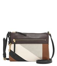 NWT Fossil Fiona Multi Patchwork Leather Zip Shoulder Bag Crossbody ZB7421558
