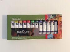 12 tubes de peinture à l'huile. 12x12ml. Toutes les couleurs. VAN BLEISWIJCK