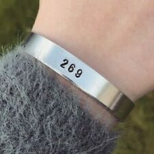 Vegan Bracelet 269 Silver Cuff Bracelet Handmade Jewellery