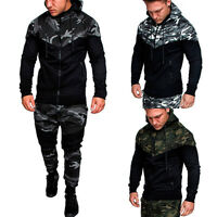 Men's Outwear Sweater Winter Zip Up Hoodies Warm Hooded Sweatshirts Coat Jacket