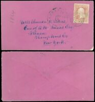 DEC 3, 1864 ANNAPOLIS MD Cds, *VERY RARE* PURPLE ENVELOPE, To Ithaca NY, SC #65!