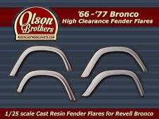 Olson Brothers Resin Fender Flares FULL SET for new 1/25 Revell Ford Bronco