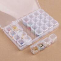 28 Slots Empty Nail Art Storage Box Rhinestone Bead-Gems Stuffs-Container-C J9V7