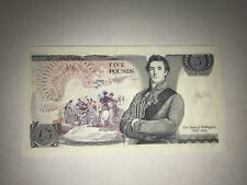 Old 5 Pound Note The Duke of Wellington Mint Condition