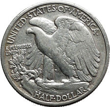 1942 WALKING LIBERTY Half Dollar Bald Eagle United States Silver Coin i44700