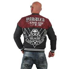 "YAKUZA - Herren Quilted Jacket JB 12055 ""Other Side"" ruby wine (rot/schwarz)"