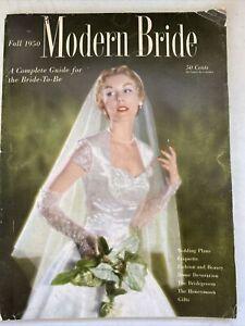 Fall 1950 issue of Modern Bride Magazine fashions, etiquette, Elizabeth Taylor