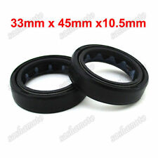 Pit Dirt Bike 33x45x10.5mm Fork Oil Seals For Chinese Apollo KAYO Mini Motocross