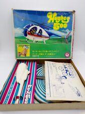 Vintage Sanko Japan Plastic Hughes 500 Pull String Flying Helicopter Kit MIB