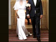 Gorgeous White Satin Wedding Dress Size 6