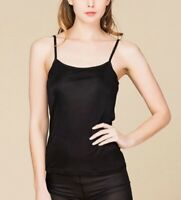 Pure Silk Knitted Women's Camisole Tank Top Solid Size 2 6 10