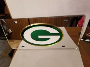 NFL Green Bay Packers Laser License Plate Tag - Silver