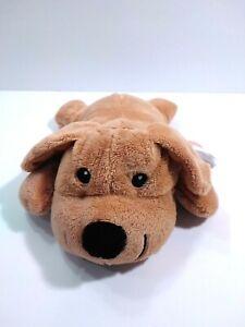 "Melissa & Doug Plush Brown Puppy Dog Sewn Eyes Lying Down 10"""