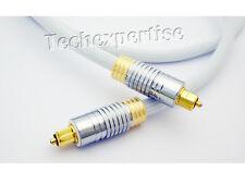 3m Ultra Premium Toslink Optical Fibre Cable Gold Plated 5.1 7.1 Digital Audio