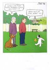 Funny humour Blank Greeting Card puppy training playing football still won't sit