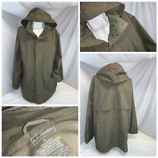 L.L. Bean Gore-Tex Rain Hood Jacket L Men Tan Poly Nylon Full Zip Mint YGI I0-98