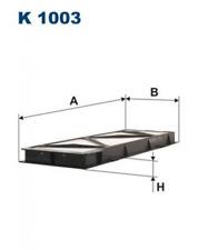 Filter, Innenraumluft für Heizung/Lüftung FILTRON K1003
