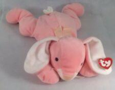 "Ty  1995 Pink Rabbit Carrots Pillow Pal 16""  M3"