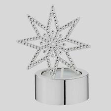 Swarovski 5030477 Silver Star Tea Light Festive Star with Swarovski Elements