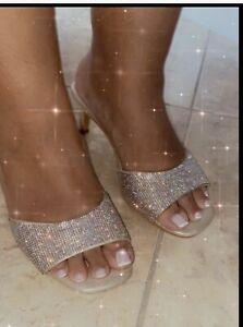 torrid Womens Gold Rhinestone Sqaure Toe Shoes 10w