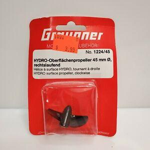 Vintage Graupner Plastic 45mm 2 Blade Racing Propeller Black 1224/45 NOS Germany
