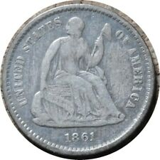 elf Seated Liberty Half Dime 1861 Legend Obverse Civil War