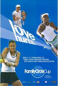 Justine Henin Signed 2005 Family Circle Cup Poster - Fanatics