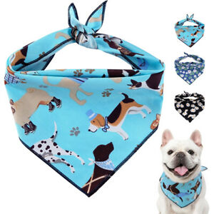 Soft Large Dog Bandana Slide On Collar Neckerchief Fashion Pet Puppy Neck Scarf