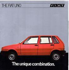 Fiat Uno 1983-84 UK Market Launch Foldout Brochure 45 55 70 Comfort Super ES