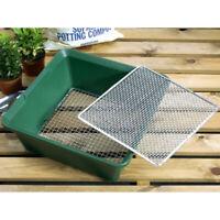 Metal Garden Sieve Riddle Riddler Soil Sifter Compost Aerator Garland 2 in 1