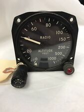 Vintage Aircraft Altitude Gauge Altimeter 1-0009