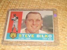 1960 Topps #396 Steve Bilko - Detroit Tigers vintage original Detroit tigers