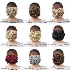 Elastic Net Wave Curly Comb Hair Bun Chignon Piece Updo Cover Ponytail Extension
