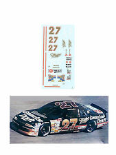 #27 Rusty Wallace 1991 MGD Pontiac 1/64 scale decal AFX Lifelike Autoworld Tyco