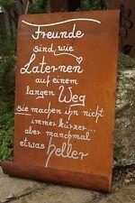 Edelrost Tafel Freunde sind wie Laternen - Wandtafel Schild Handarbeit Spruch