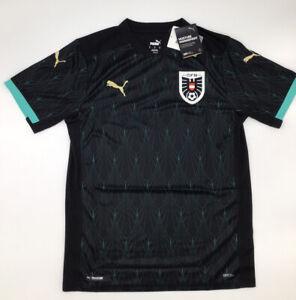 Austria Away Jersey 2020 Black Men's Puma S-M-L-XL-2XL New with Tags