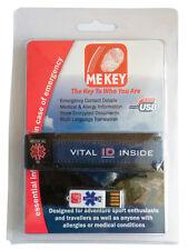 Cyclist ID Wristband - MEkey ICE USB Emergency ID Wristband (Blue Large)