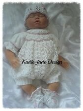 Knitting Pattern #59 (INSTRUCTIONS) Romper Set for 0-3m Baby/Reborn 22in