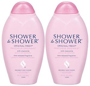 Shower to Shower Body Powder, Original Fresh with Chamomile, 13-Oz (2 Pack)