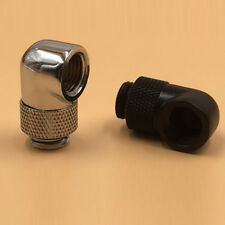 Brass G1/4 Thread 90° Rotary Tube Fitting Adapter for PC Water Cooling System