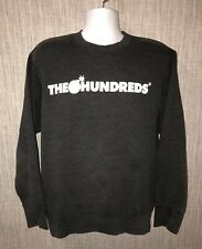 The Hundreds Mens Gray Fleece Lined Crewneck Sweater Size L
