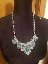 Premier designs jewelry blue and green necklace
