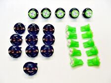 "15 Green 4 LEDs Light Bulbs 1/2"" Sockets Side Marker License Plate Dash Ford 194"